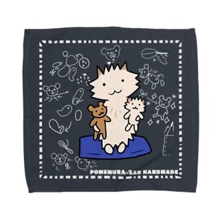 ポメ村さん ハンドメイド Towel Handkerchief