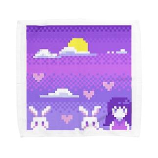 月とうさぎ Towel handkerchiefs