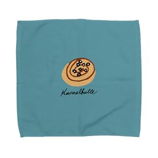 kanelbulle 青 Towel handkerchiefs