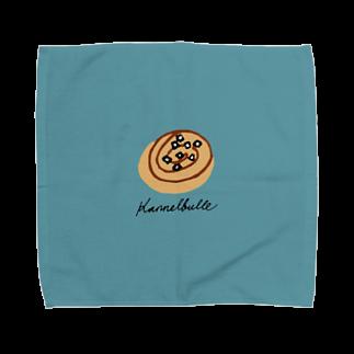 HÖGBRONのkanelbulle 青 Towel handkerchiefs