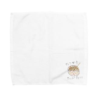 たこやきたべたい Towel handkerchiefs