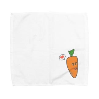 恋するにんじん Towel handkerchiefs
