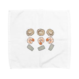 ほたてえびいか Towel handkerchiefs