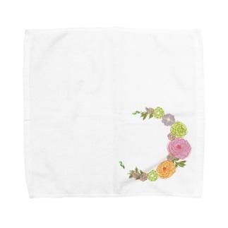 Crescent Bouquet Towel handkerchiefs