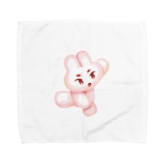 飛ぶうさぎ Towel handkerchiefs