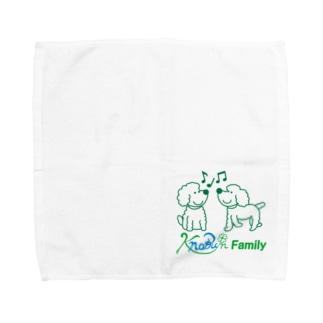 ツインズ(プードル)ロゴ入り Towel handkerchiefs