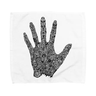 ヴンダーカンマーの左手のための描画 Towel handkerchiefs