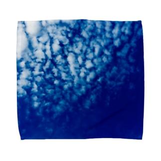 都会の秋空 Towel handkerchiefs