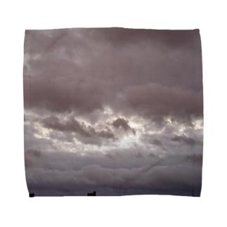 台風 静けさ Towel handkerchiefs
