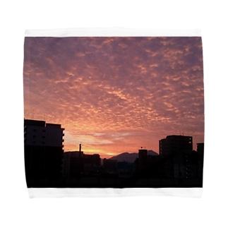夕暮れ いわし雲 Towel handkerchiefs