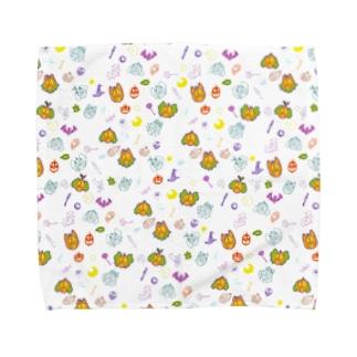 クッキーハロウィン総柄 Towel handkerchiefs