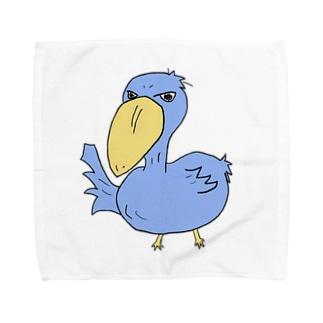 ハシビロコウさんm Towel handkerchiefs