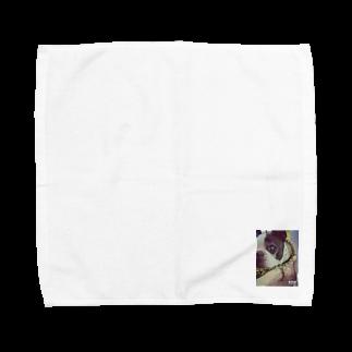 KAWAIIのボストンテリア Towel handkerchiefs