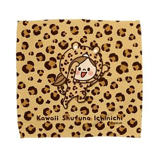 かわいい主婦の1日レオパード(ブラウン)  Towel Handkerchief