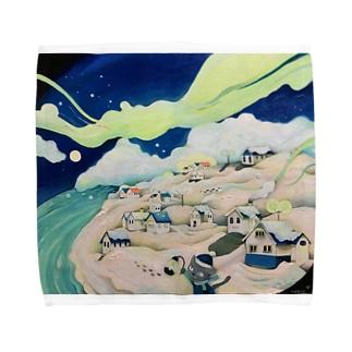 真夏の雪景色 Towel handkerchiefs