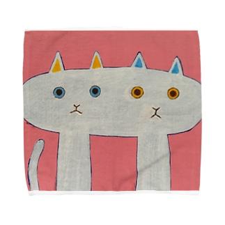 なかよしなねこ Towel handkerchiefs