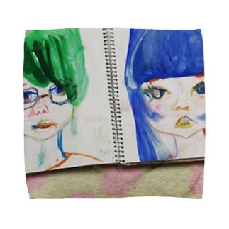 青子と新緑君のめばえる. Towel handkerchiefs