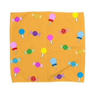 トリックオアトリートキャンディ(オレンジ) Towel handkerchiefs