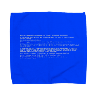 Desktop LabのBSOD(Blue Screen of Death) タオルハンカチ