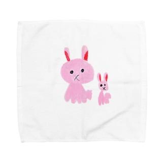 うさぎのおやこ Towel handkerchiefs