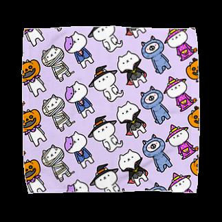 【公式】吾輩は猫です。の吾輩×ハロウィン Towel handkerchiefs