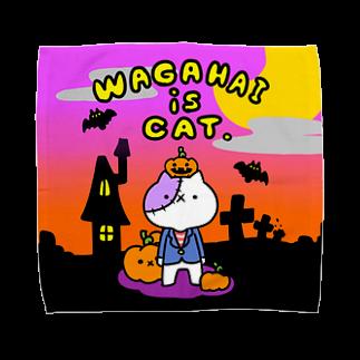 【公式】吾輩は猫です。の吾輩×ハロウィン タオルハンカチ