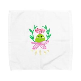 多肉植物ブルゲリさん Towel handkerchiefs