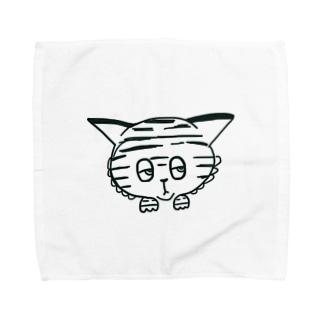 ジト目の虎くん Towel handkerchiefs