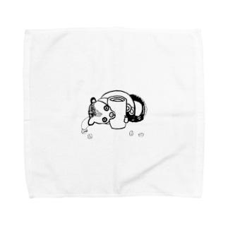 ジャコウネコ Towel handkerchiefs