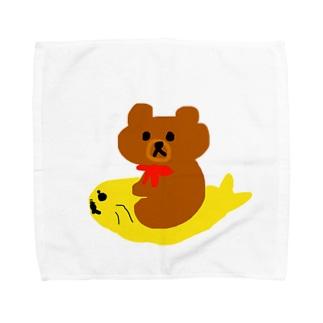 うちのくまちゃんとぎょぴ〜くまちゃんの遊び①〜 Towel handkerchiefs