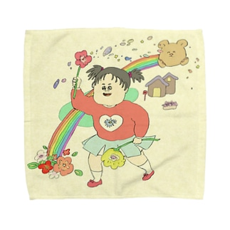 くまさんレインボー Towel handkerchiefs