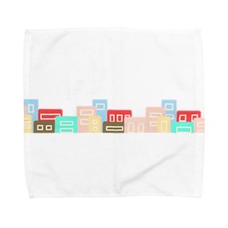 カラフルな街並み Towel handkerchiefs