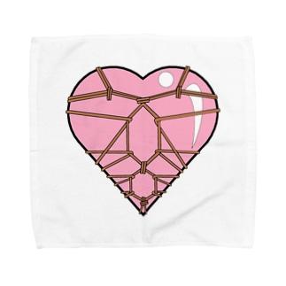ハート束縛・ピンク Towel handkerchiefs