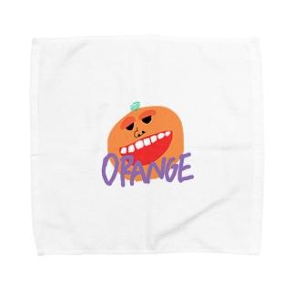 イカしたオレンジ Towel handkerchiefs