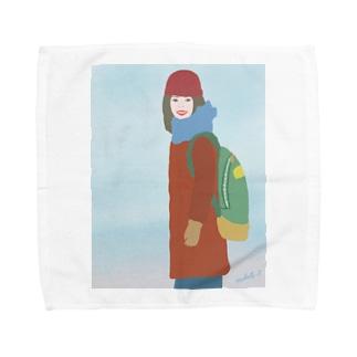 冬がやってくる Towel handkerchiefs