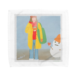 冬 目覚めのコーヒー Towel handkerchiefs