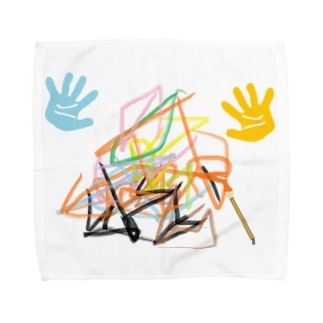 うぱるるの落書き Towel handkerchiefs