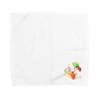 もぐぶーりんご Towel handkerchiefs