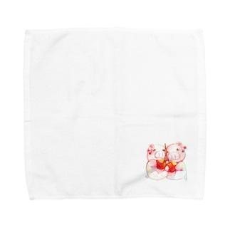 もぐぶーさくらんぼ Towel handkerchiefs