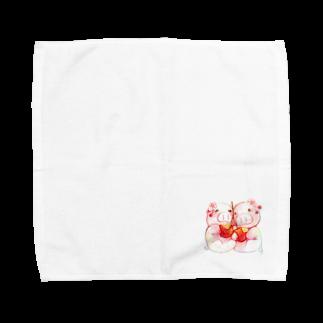 P-PiGのもぐぶーさくらんぼ Towel handkerchiefs