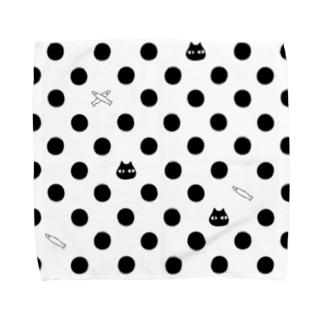 cat dot.(short) Towel handkerchiefs