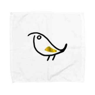シンプルな鳥 Towel handkerchiefs