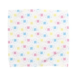 おにぎりドット Towel handkerchiefs