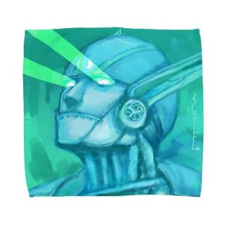 目からビーム(雷神紋) Towel handkerchiefs