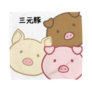 三元豚2 Towel handkerchiefs