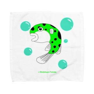 ミドリフグのふぅちゃん Towel handkerchiefs