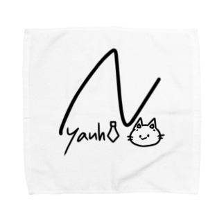 サインにゃんひー Towel handkerchiefs