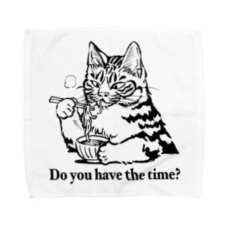 時そば猫 タオルハンカチ