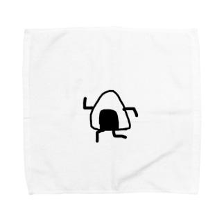 走るおにぎり Towel handkerchiefs