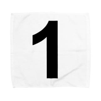 シンプル 数字 【1】 Towel handkerchiefs